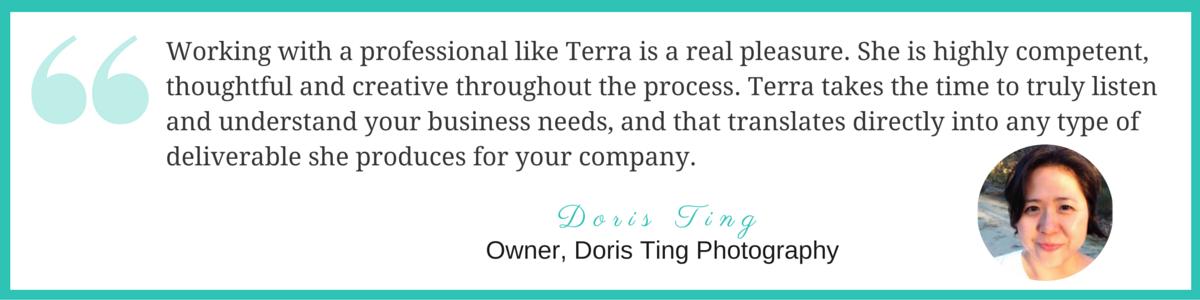 Testimonial Doris Ting