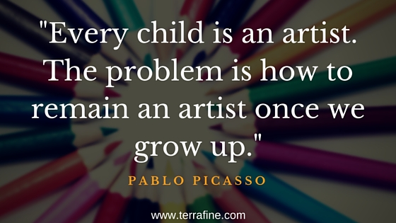 Every child is an artist, Pablo Picasso quote